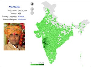 View India people group map