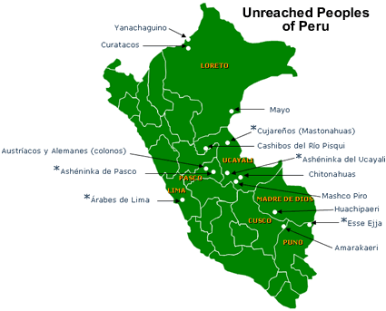 Map of Amarakaire in Peru