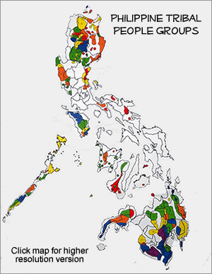 Map of Manobo, Higaunon in Philippines