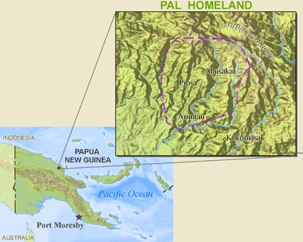 Map of Abasakur in Papua New Guinea