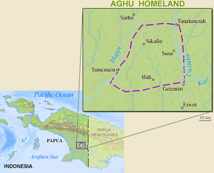 Map of Aghu in Indonesia