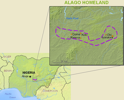 Map of Alago, Idoma Nokwu in Nigeria