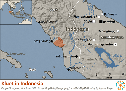 Map of Kluet in Indonesia