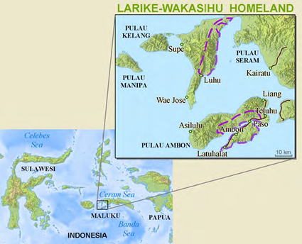 Map of Ambonese in Indonesia