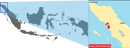 Map of Aneuk Jamee in Indonesia