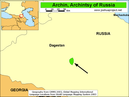 Map of Archi, Archintsy in Russia