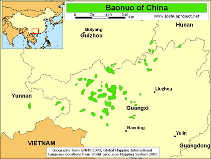 Map of Baonuo in China