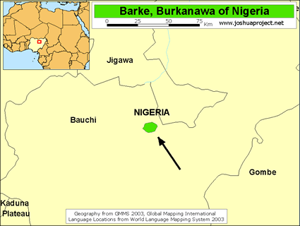 Map of Barke, Burkanawa in Nigeria