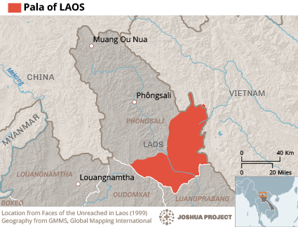 Map of Pala in Laos