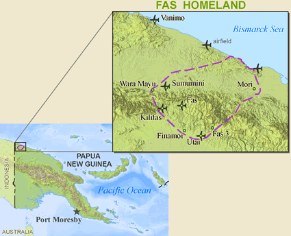 Map of Fas, Bembi in Papua New Guinea