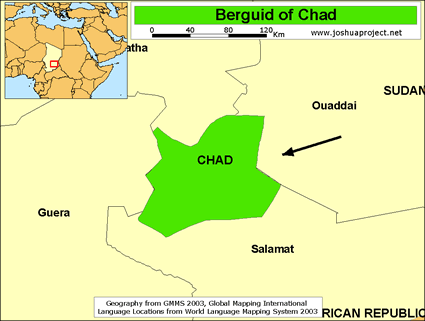 Map of Birgid in Chad