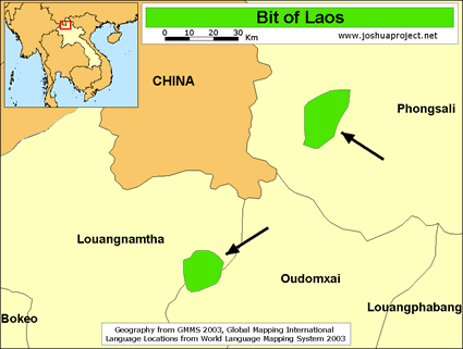 Map of Bit in Laos