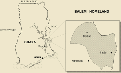 Map of Buem in Togo