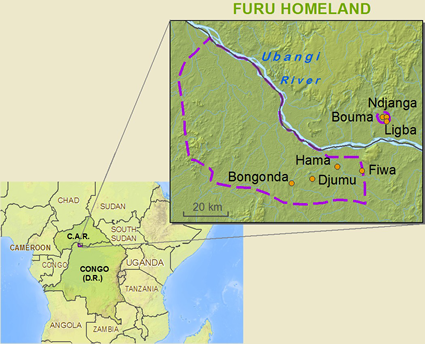 Map of Furu in Central African Republic