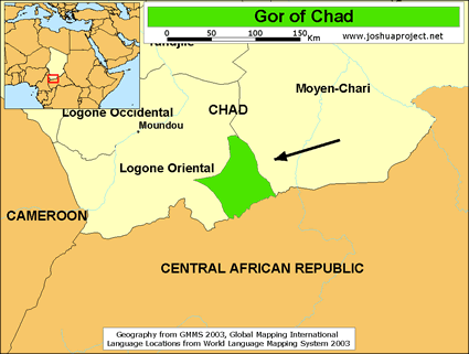 Map of Gor in Chad