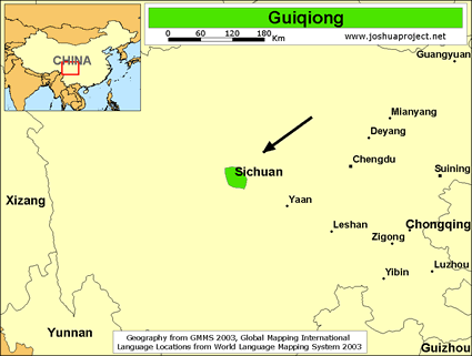 Map of Guiqiong in China