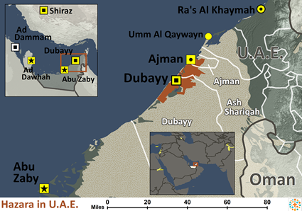 Map of Hazara in United Arab Emirates