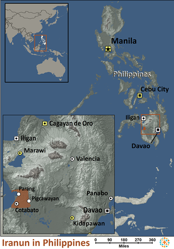 Map of Iranun in Philippines