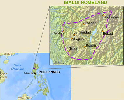 Map of Inibaloi, Nabaloi in Philippines