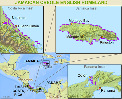 Map of Jamaicans in United Kingdom