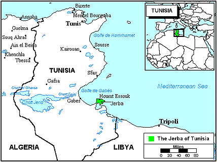 Amazigh, Djerba in Tunisia