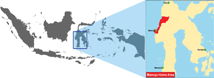 Map of Mamuju in Indonesia