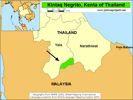 Map of Kintaq in Thailand