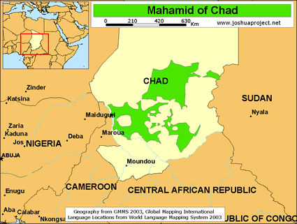 Map of Mahamid in Chad