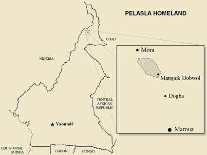 Map of Ndreme, Pelasla in Cameroon