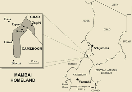 Map of Mangbai in Chad