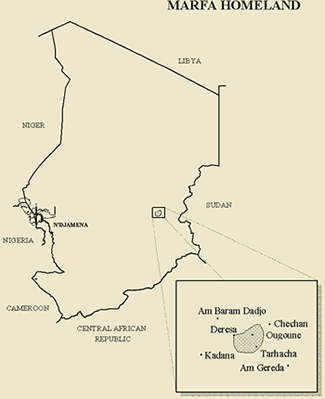 Map of Marfa in Chad