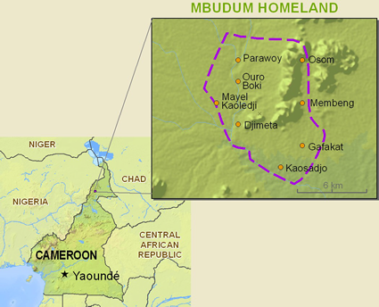 Map of Mbedam in Cameroon