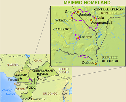 Map of Mbimu in Cameroon