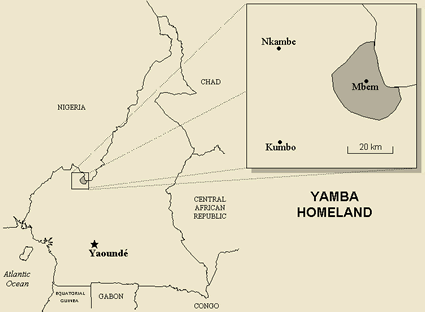 Map of Yamba in Nigeria