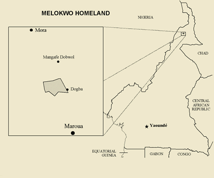 Map of Molokwo in Cameroon