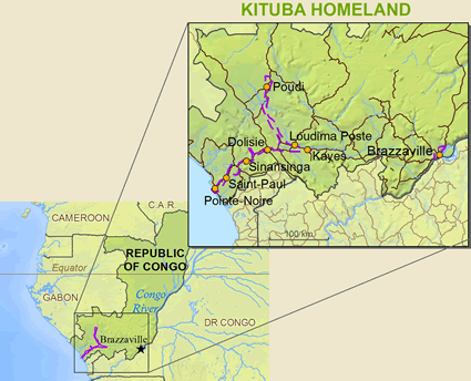 Map of Kituba, Monokutuba in Congo, Republic of the