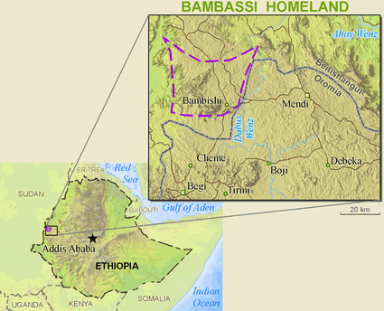 Map of Mao, Northern in Ethiopia