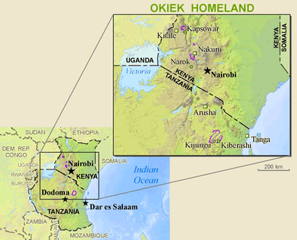 Kalenjin, Okiek in Kenya