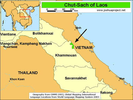 Map of Chut-Sach in Laos