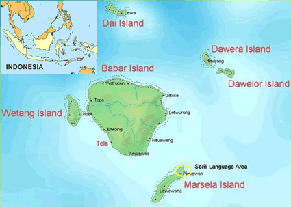 Map of Serili in Indonesia