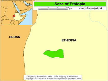 Map of Seze in Ethiopia