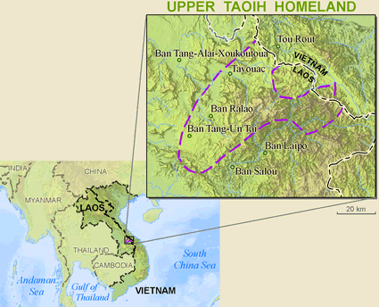 Map of Ta Oi, Upper in Laos