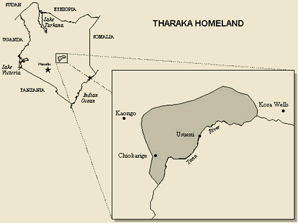Map of Tharaka in Kenya