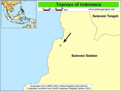 Map of Topoiyo in Indonesia