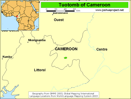 Map of Tuotomb in Cameroon