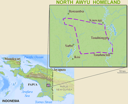 Map of Yair in Indonesia