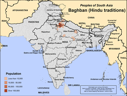 Map of Baghban (Hindu traditions) in India