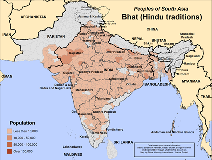Map of Bhat (Hindu traditions) in Bangladesh