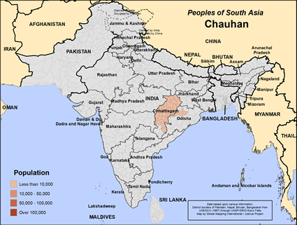 Map of Chauhan in India