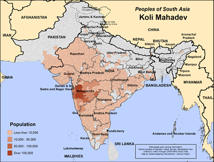Map of Koli Mahadev in India